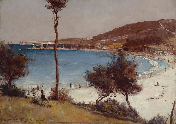 Roberts, Tom: Holiday Sketch at Coogee. Fine Art Print/Poster. Sizes: A4/A3/A2/A1 (002236)